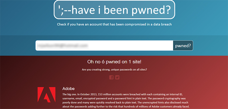 Check If Your Email Has Been Compromised Have I Been Pwned