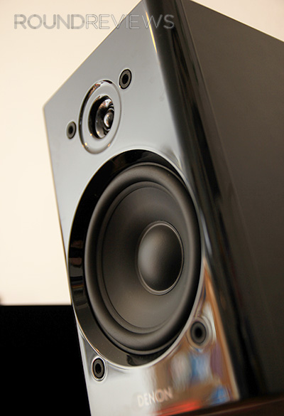 Close up of Denon speaker