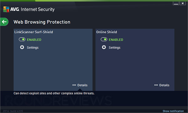 AVG Internet Security Screen