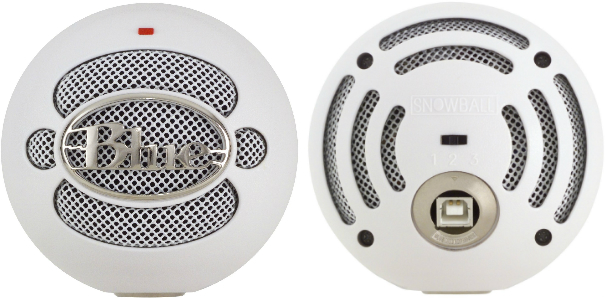 snowball mic front & back